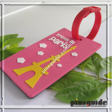 custom soft pvc luggage tag with cute design