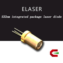 Highly-integrated 100 pieces per tray low power 532nm green laser