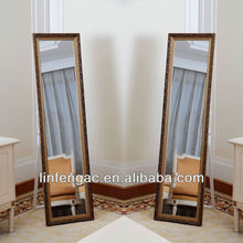 Large home decorative cheap dressing carved wooden mirror frames