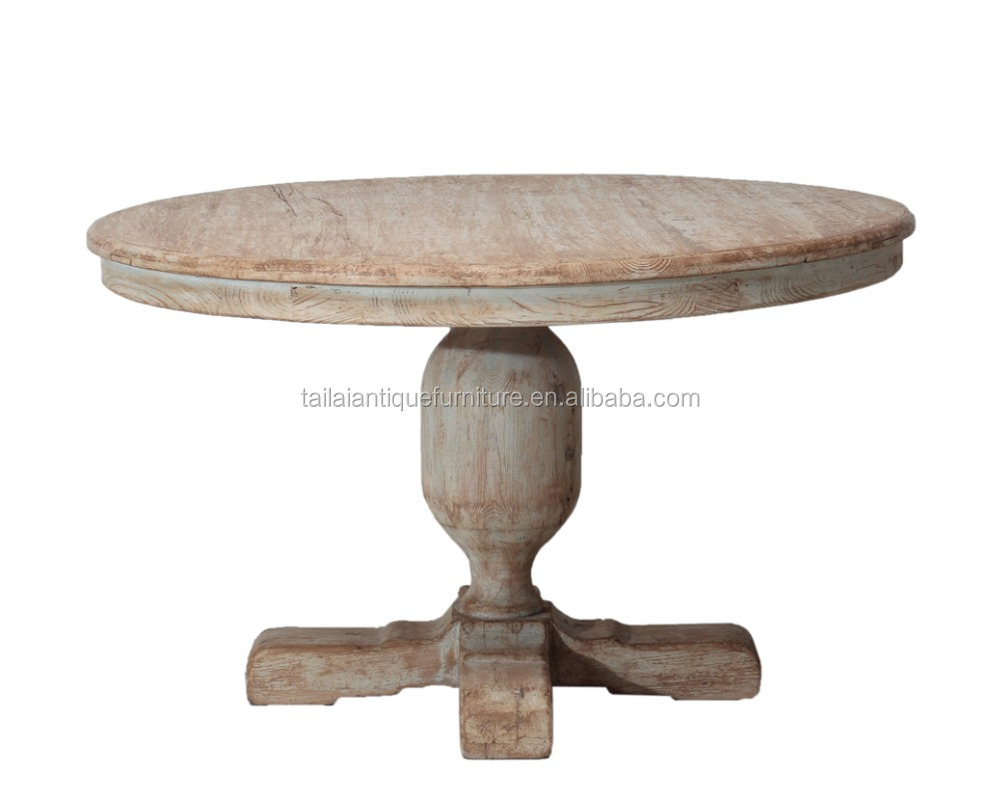 antique country style handmade rustic round dining table