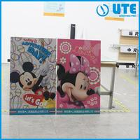 Multifunctional brightly colored die cutting billboard