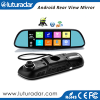 7 Inch Rear View Mirror GPS navigation+Car DVR+Rearview Camera+Android+Bluetooth+wifi 1080 HD Dual Camera