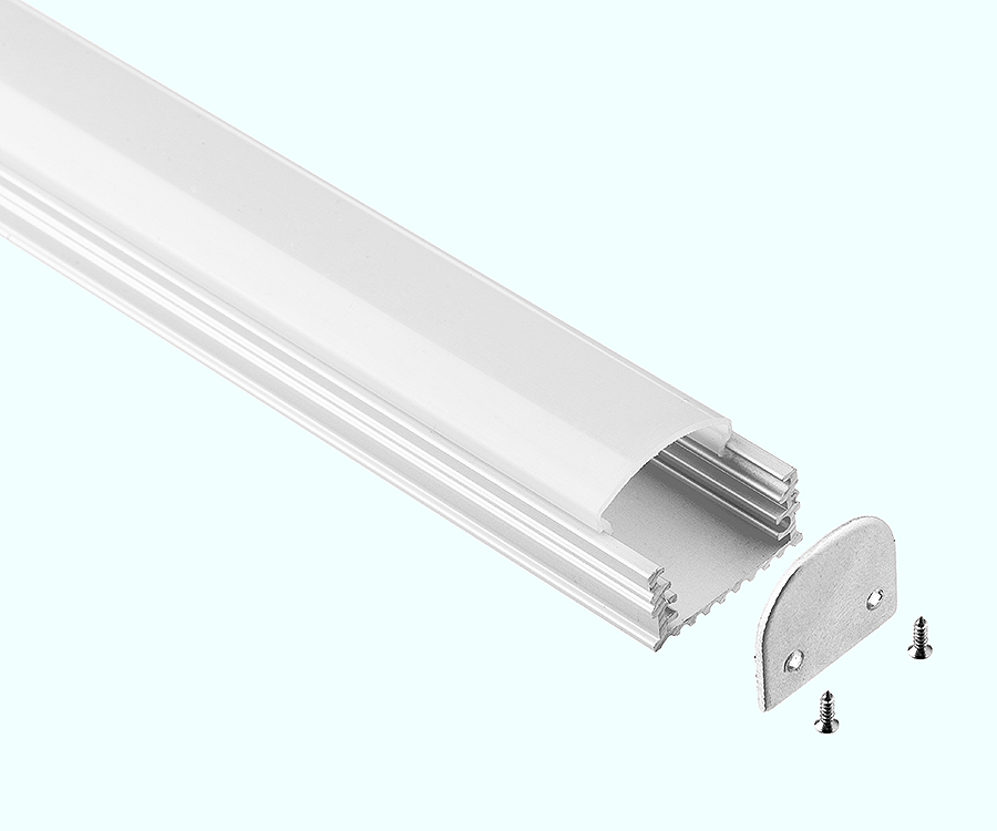 1000mmX20mmX10mm rigid strip milky transparent cover led aluminum profile