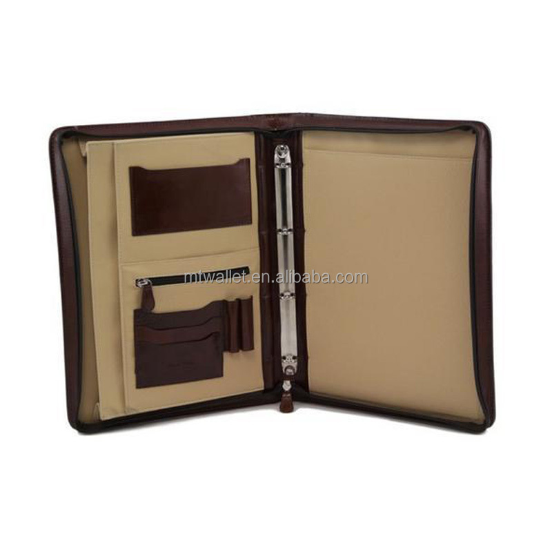 Artist Fashion Zipper Business PU Leather Portfolio Case