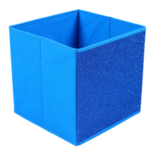 Cloth Square Large Canvas Folding Cubes Fabric Storage Boxes For Shelves