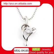 Cupid's arrow and heart shape pendant statement pendant necklace