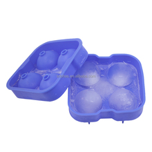 Hot selling FDA non-stick reusable clear silicone sphere ice ball molds