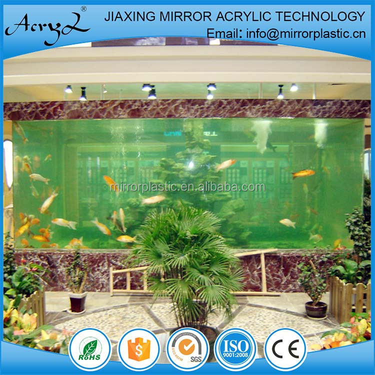 Acrylic plastic glass fish aquarium tank