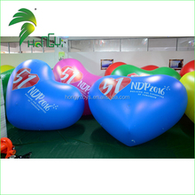 Customized Inflatable Advertising Helium Balloon With Heart Shape / Large Inflatable Heart For Sale