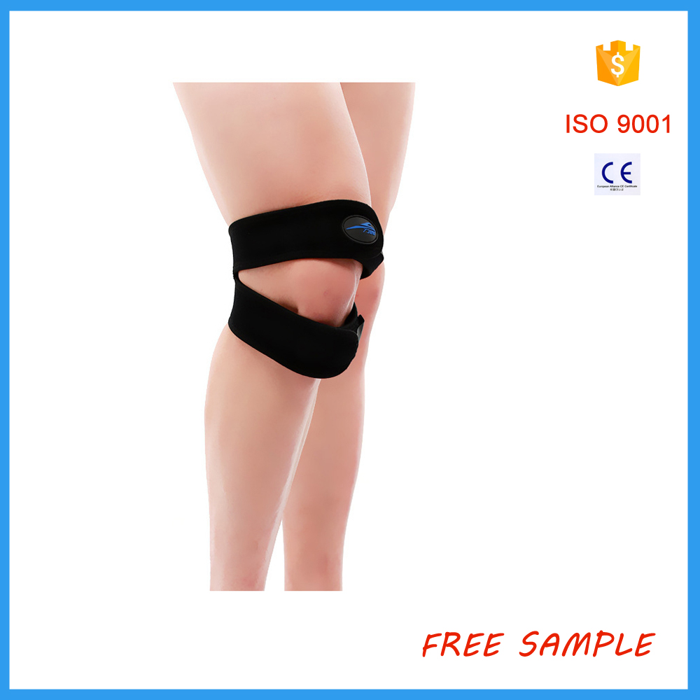 Jumpers Patella Tendon Knee wrap Strap , Fully Adjustable Knee Resistance Band