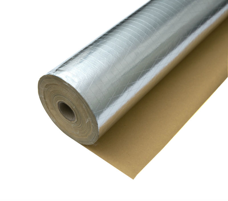 thermal isolation Aluminum Foil scrim Kraft Paper building insulation materials for roof pipe wall