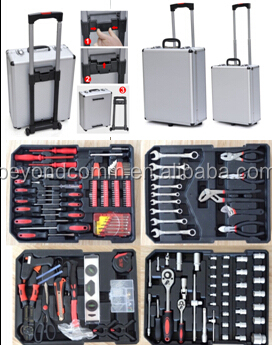 299pc combination tool set 299 sets of machine tool sets Aluminum Alloy rod toolbox