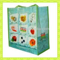 laminated printing pp woven shopping bag