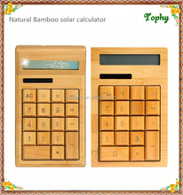 High Quality and New Fashional Natural Bamboo 12-digit Desktop Calculator, Bamboo Calculator solar