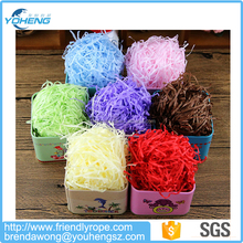 Various colorful stuffing paper shredded tissue paper for box