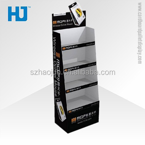 Foldable Advertising Cardboard Display Stand, Retail Store Carton Pallet Display Counter for Computer Accesories