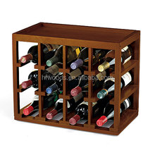 Top selling antique wooden wine rack display wine rack for wine shop