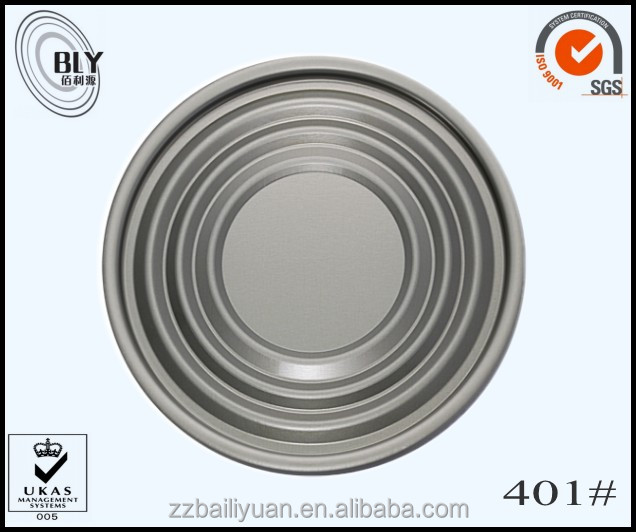 best quality 401 empty tin can clear lids metal tin round clear lid small round tin can lids