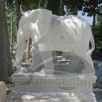 Hot sale famous stone elepahnt sculptures for Outdoor Decoration