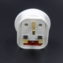Guangzhou Fused American /USA/Australia/schuko/Euro to UK travel adaptor plug/Fused power plug adapter