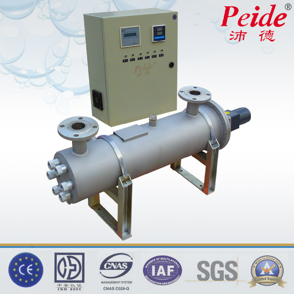 200T ss304/ss316 food and beverage industry or swimming pool water disinfection uv light sterilizer