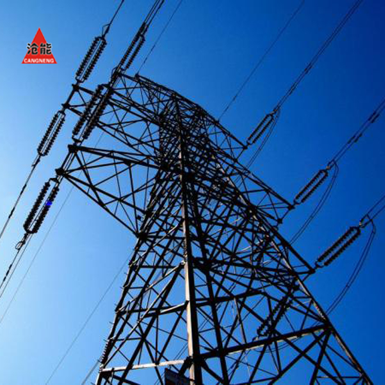 Galvanized electric transmission line steel lattice tower