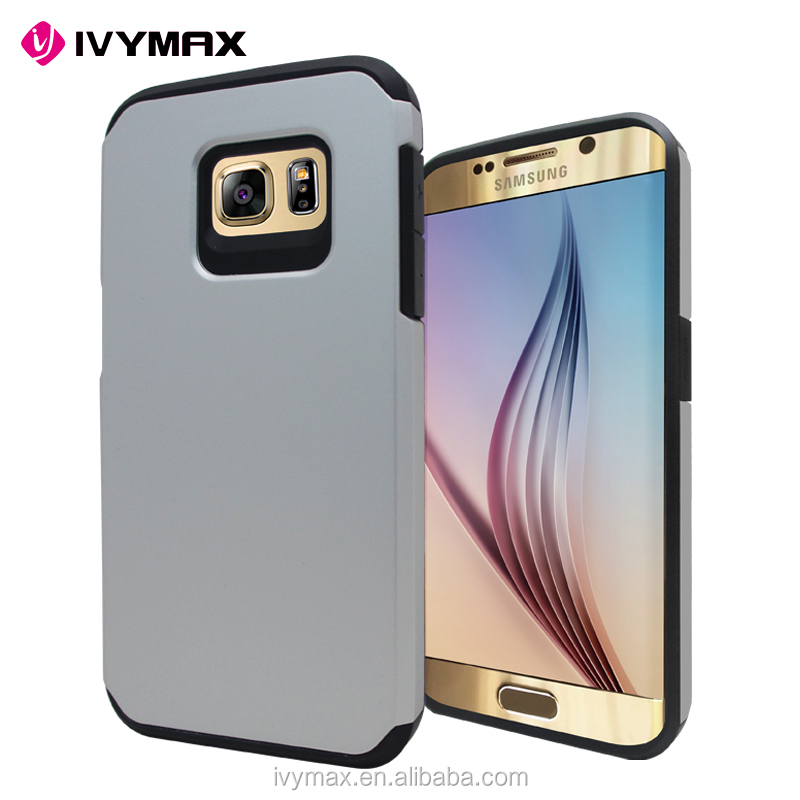 2016 China factory wholesales slim jacket pc+tpu phone case cover for samsung galaxy s7