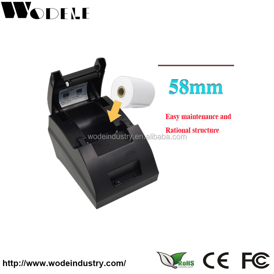 Black color pos printer WODELE WD-5890X label printer 80mm