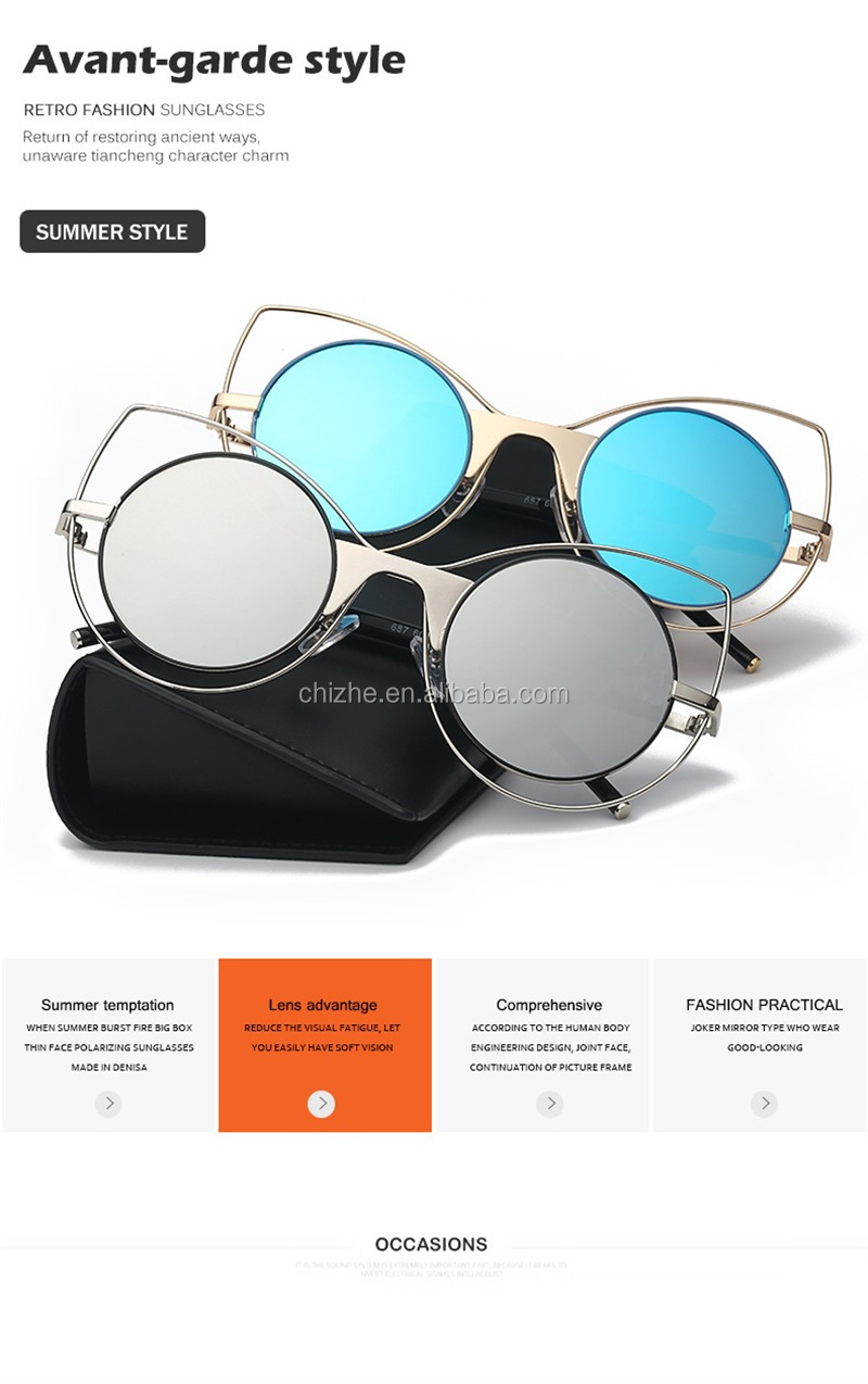 2017 Outdoor fashionable cycling ladies sunglasses cat eye for women
