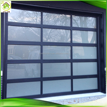 Apex automatic aluminum alloy material frosted glass modern new black garage doors