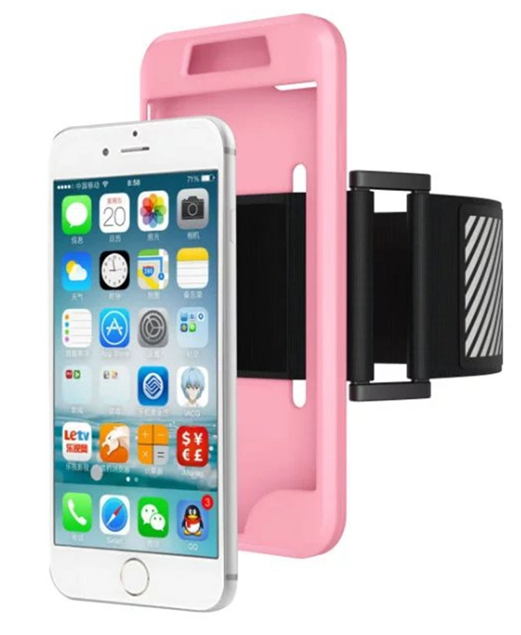 Adjustable 5.5 inch Mobile Phones Running Armband Sports Case Cover Pouch for iPhone 6 6S Plus