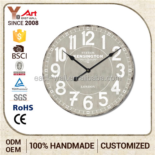 Special Decoration Custom Made Large Outdoor Wall Clocks Sweet Gifts For Family
