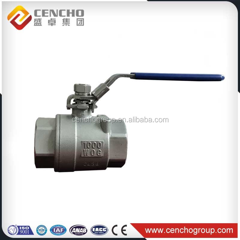 Stainless Steel Full Bore 2PC Flanged End Ball Valve