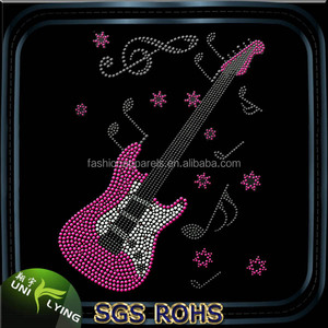 Cheap music designs rhinestone transfers wholesale in china