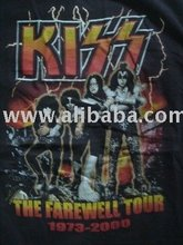 T-SHIRT ROCK BAND VINTAGE TOUR new Black Kiss