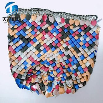 2018 Christmas hot sales Ananas metal wire mesh craft bag