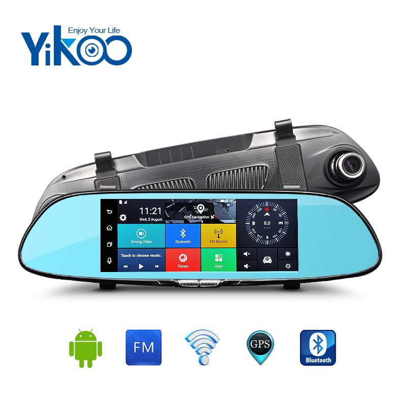 Full HD 1080p 7 touch screen 3g android dual camera car gps navigation with wireless rearview camera