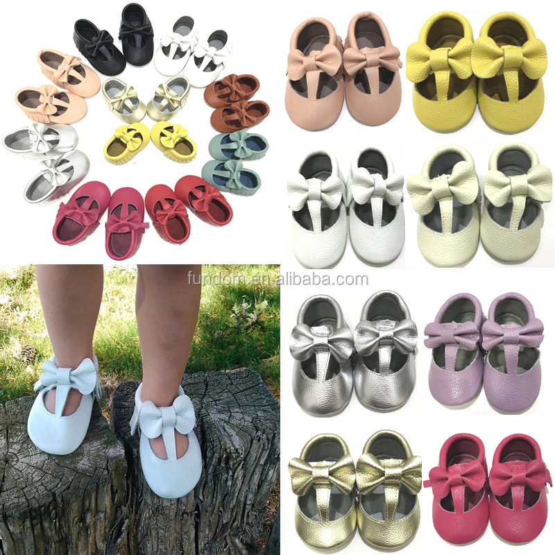 wholesale comfortable soft sole baby Sandals moccasins genuine leather T Bar Baby Shoes