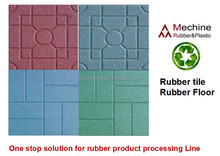 Outdoor playground rubber tile / rubber mat / rubber floor