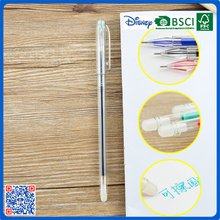 China manufacturer custom transparent erasable ball point pen for india style