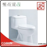 White Ceramic Siphonic One Piece Toilet Product