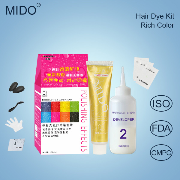 China Hair Beauty Products Manufacturer OEM/ODM Privatel Label Black Hair Dye Provide Free Hair Dye Samples