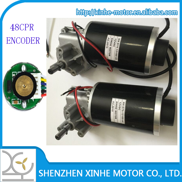 76mm 12v 24v High Torque Low Speed Dc Worm Geared Motor