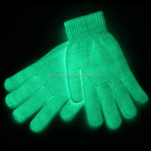 hot sell fashion party & event glow in the dark gloves