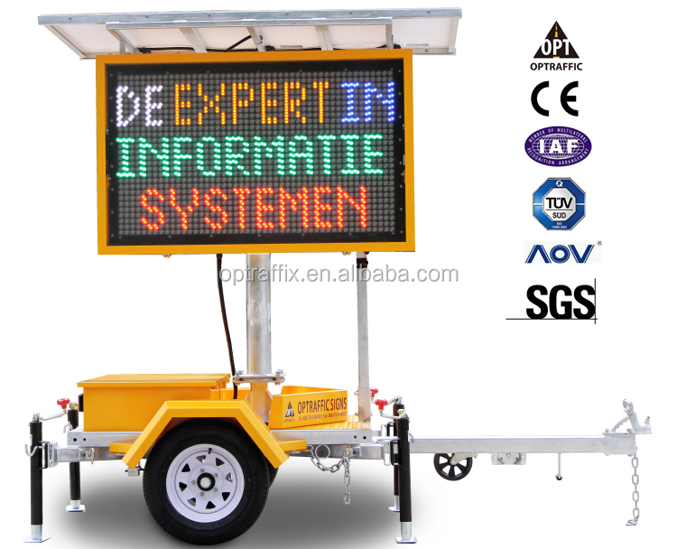 OPTRAFFIC Outdoor Traffic Equipment Mobile Programmable Dynamic Variable Message