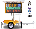 OPTRAFFIC Outdoor Traffic Equipment Mobile Programmable Dynamic Variable Message Board Vms Display Led Traffic Sign Trailer