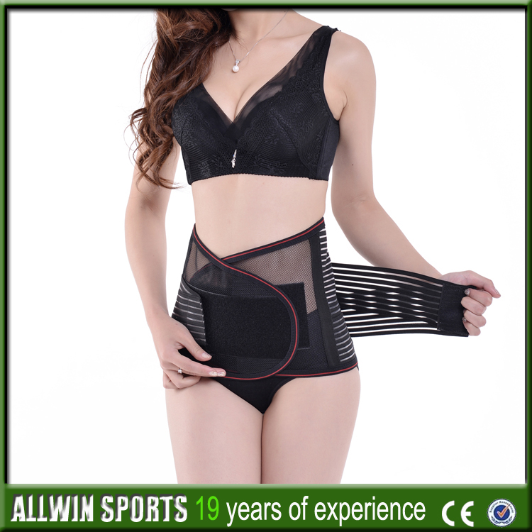 Self-heating lower back lumbar support brace waist brace