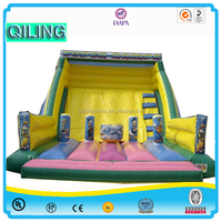 2016QiLing new design cheap high quality Kids Used commercial outdoor playground slide equipment slide for Sale