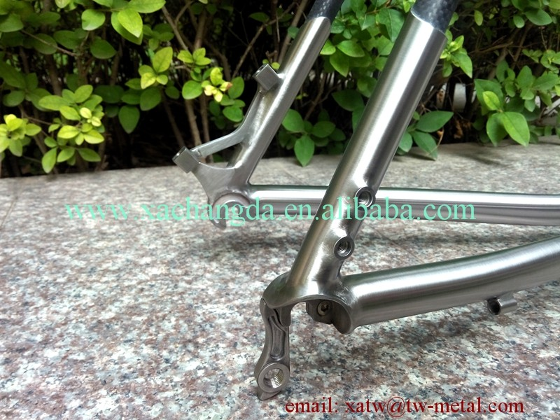 titanium mtb bike frame carbon fiber mtb bicycle custom titanium & carbon mtb bike frame titanium weldless bike frame
