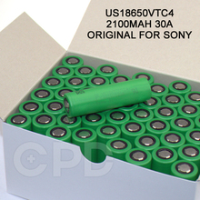 for Sony US18650VTC4 2100mAh 30A Discharge High Capacity VTC4 Rechargeable Li-ion Battery for Nitecore TM06 Flashlight